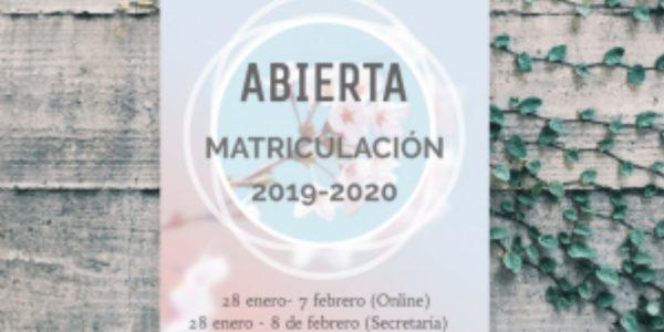 Matriculación 2019-2020