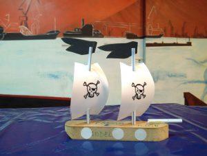 Los alumnos/as de 3º de primaria navegando como los buenos piratas